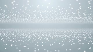 Particles white business bright glitter bokeh dust abstract background loop