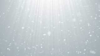 Particles white snow snowflake winter christmas clean bright glitter bokeh abstract background loop