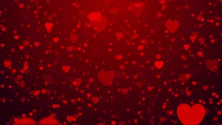 Valentine's day heart love wedding anniversary abstract particles background loop