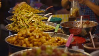 Asian street food grilled vegetables