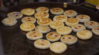Asian street food pancakes