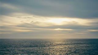 beautiful sunset in Pacific ocean