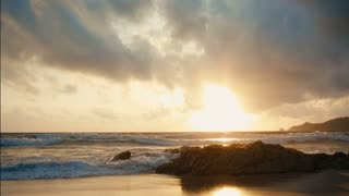 beautiful sunset on a asian tropical island