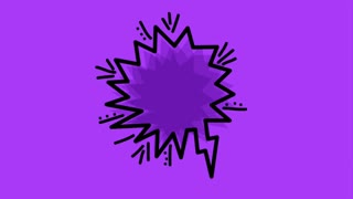 pop art speech bubble lightning rotation rays background animation hd