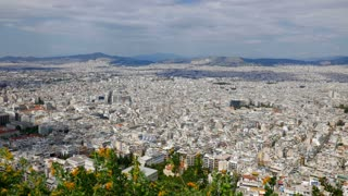 Athens, Greece City View from Hill Top