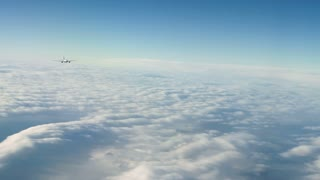 Civilian Passenger Jet Flying
