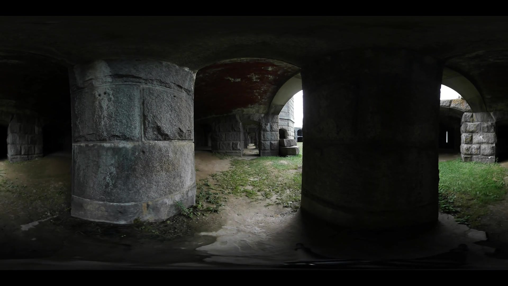 Haunted Ruins with Zombies 360 Video