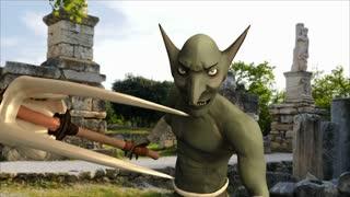Menacing Goblin amongst Ancient Ruins