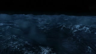Rough Seas at Night Animation