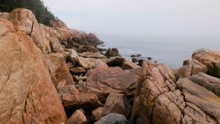 Rugged Foggy Coastline in Acadia National Park, Maine