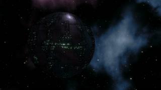 Huge Space Station in Deep Space