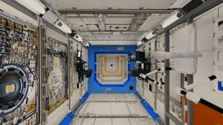 International Space Station Interior Fly-Through.  High-quality 3D animation