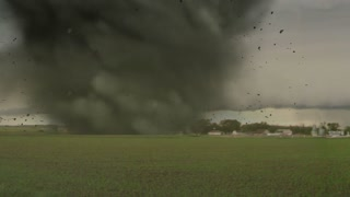 Violent Tornado with Flying Debris
