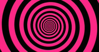 Hypnotic black and pink zooming Spiral in 4k.