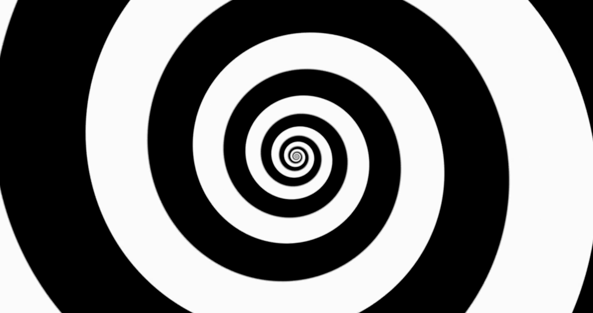 Hypnotic black and white zooming spiral - seamless looping ...