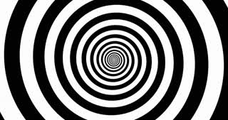 Hypnotic black and white zooming Spiral.
