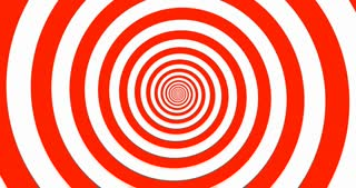 Hypnotic red and white zooming Spiral in 4k.
