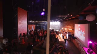 SAINT-PETERSBURG - DEC 25: big hall with people
