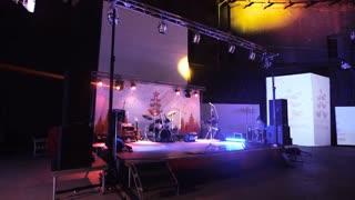 SAINT-PETERSBURG - DEC 25: Empty stage with instruments