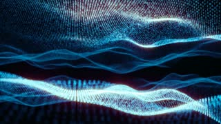 ABC Loopable Wave Abstract Blue Animation