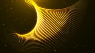 Abstract Gold Stream Background Loop
