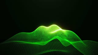 Green Shine Loopable Abstract Triangular Waves Rotation