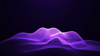 Purple Shine Loopable Abstract Triangular Waves Rotation