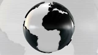 3D Globe Loop Background
