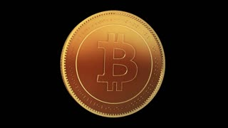 Bitcoin Virtual Currency Spinning and Rotating