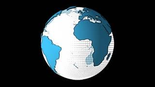 Cartoon Spinning Earth Globe With Alpha