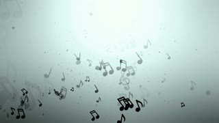 Music Notes Loop Background