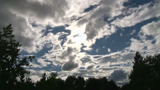 Active Clouds And Sunny Sky Time Lapse