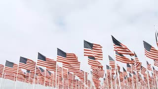 American Flags Waiving Lower Thirds