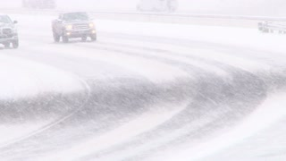 Bad Weather Snow Storm Traffic
