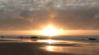 Beautiful Pacific Beach Sunset Time Lapse