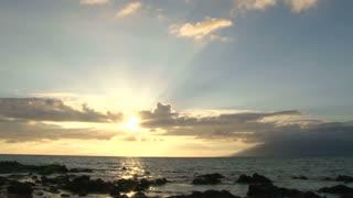 Beautiful Sunny Ocean Sunset Time Lapse