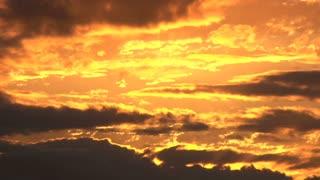 Beautiful Sunset Cloudscape Time Lapse