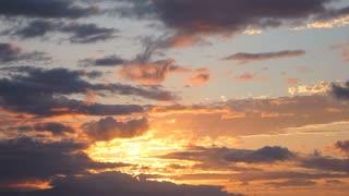 Beautiful Sunset Cloudscape Timelapse