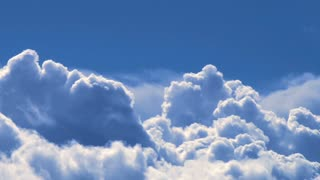 Big Blue Thunderhead Clouds Time Lapse