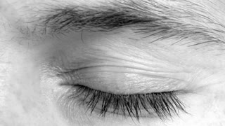 Black And White Eye Close Up