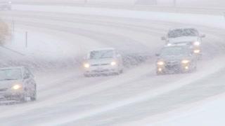 Blizzard Snow Freeway Drivers