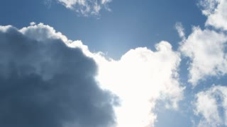 Bright Beautiful Blue Sky Cloudscape Time Lapse