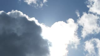 Bright Sun To Dark Clouds Timelapse