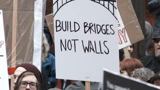Build Bridges Not Walls Sign