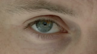 Caucasian Man Eyes Close Up