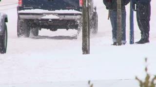 City Street Snow Storm