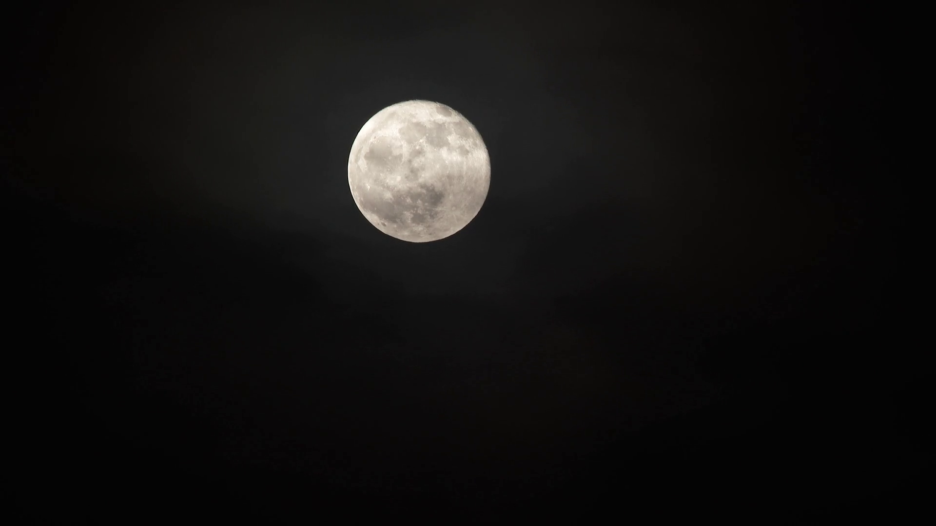 Close Up Bright Full Moon With Cloud Layer Real Time Stock Video Footage Storyblocks