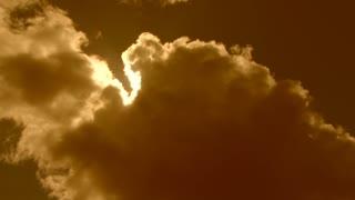 Dark Clouds Reveal Warm Sky Time Lapse