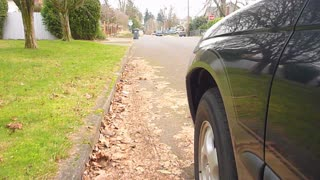 Driving Car Tires Point Of View