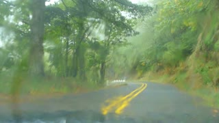 Driving On Rainy Road Time Lapse